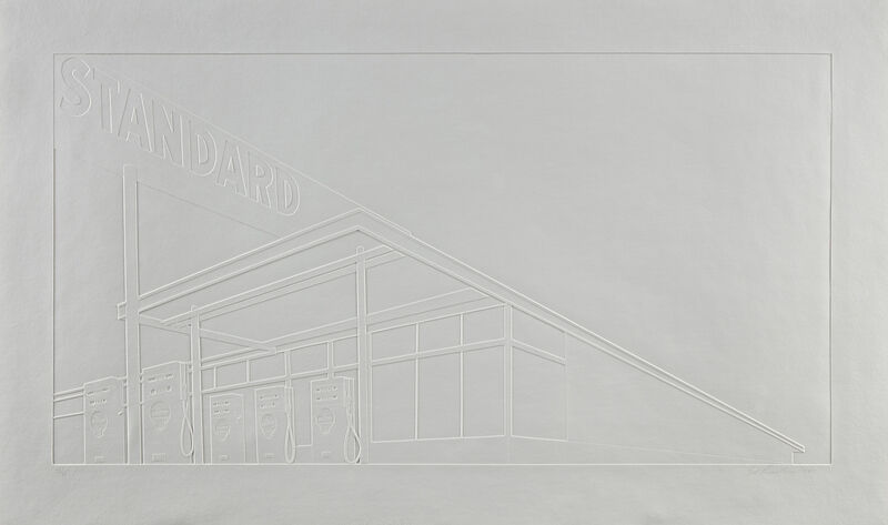 Ed Ruscha, 'Ghost Station', 2011, Print, Mixografia® inkless print, on handmade paper, with full margins., Phillips
