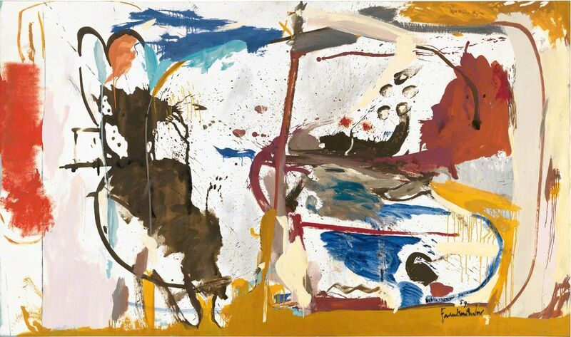 Helen Frankenthaler, 'First Creatures', 1959, Painting, Oil, enamel, charcoal, and pencil on sized, primed linen, Gagosian