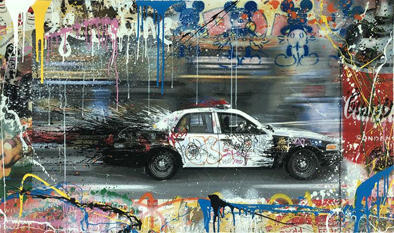 Mr. Brainwash, 'Metro Polisa (HPM)', 2015, Drawing, Collage or other Work on Paper, Mixed Media on Paper, Vanessa Villegas Art Advisory