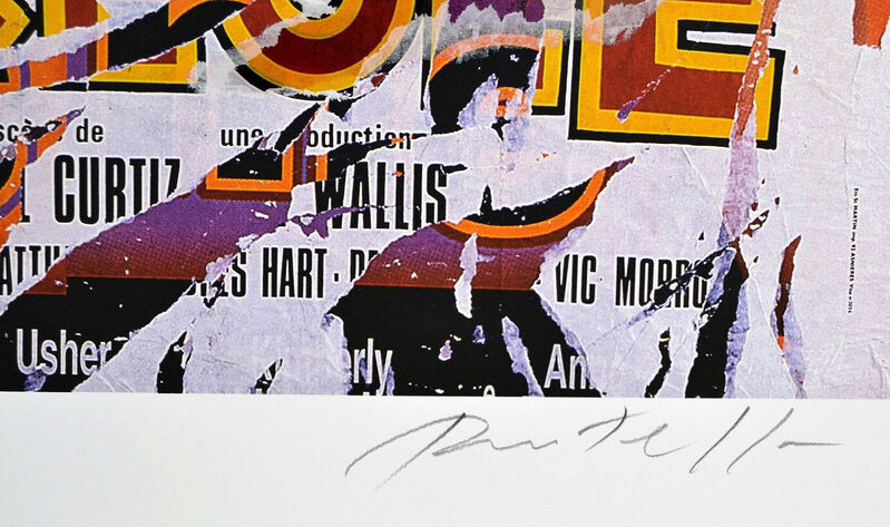 Mimmo Rotella, 'King Creole', ca. 2005, Print, Multiple decollage screen print on heavy weight paper, ARTETRAMA