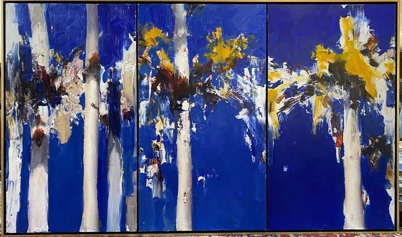 Ken Knight, 'Gums and Wattle', 2019, Painting, Oil on Board, Wentworth Galleries