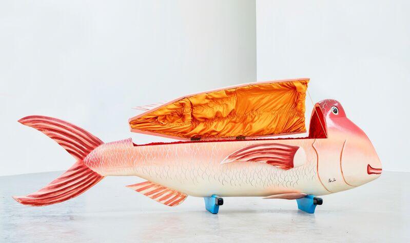 Paa Joe, 'Red Fish fantasy coffin', 2004, Sculpture, Wood, oil paint and interior fabric, Ruttkowski;68