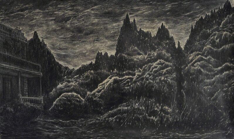 Valérie Sonnier, '24 juin, 22h20, 2014', 2014, Drawing, Collage or other Work on Paper, Pierre noire et cire sur papier, Nadja Vilenne