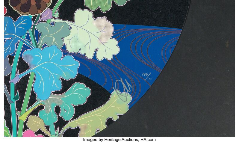 Takashi Murakami, 'Korin: Azure River', 2015, Other, Offset lithogaph in colors with foil and gloss varnish on smooth wove paper, Heritage Auctions
