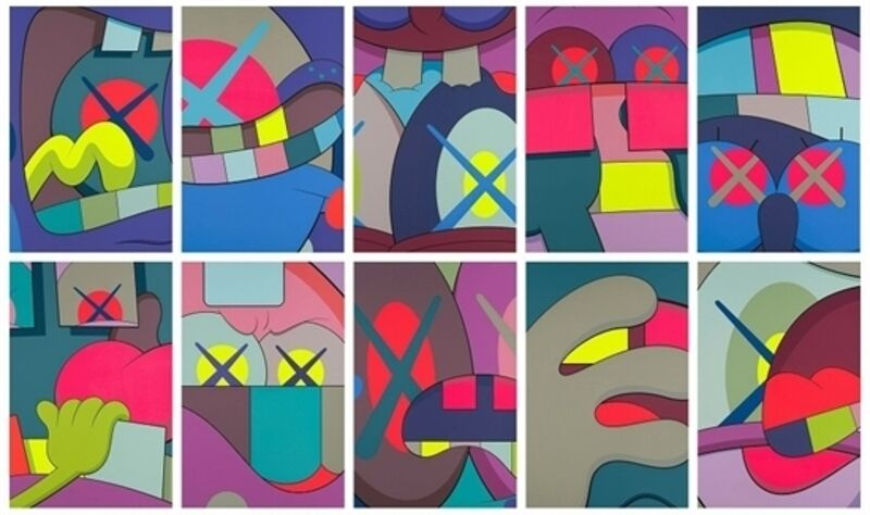 KAWS, 'Ups And Downs (complete set of 10)', 2013, Print, Screenprint in colors on Saunders Waterford High White paper, Carmichael Gallery