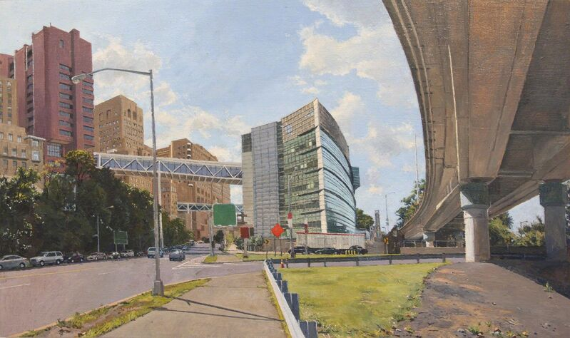 Rackstraw Downes, 'New York State Psychiatric Institute', 2015, Painting, Oil on linen, Betty Cuningham