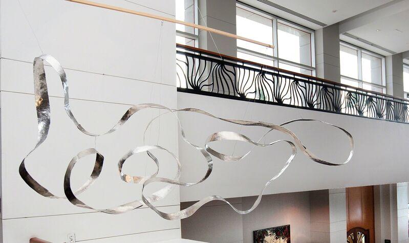Jacques Jarrige, 'Waves Mobile Sculpture', 2015, Sculpture, Hand Hammered Aluminum, Valerie Goodman Gallery