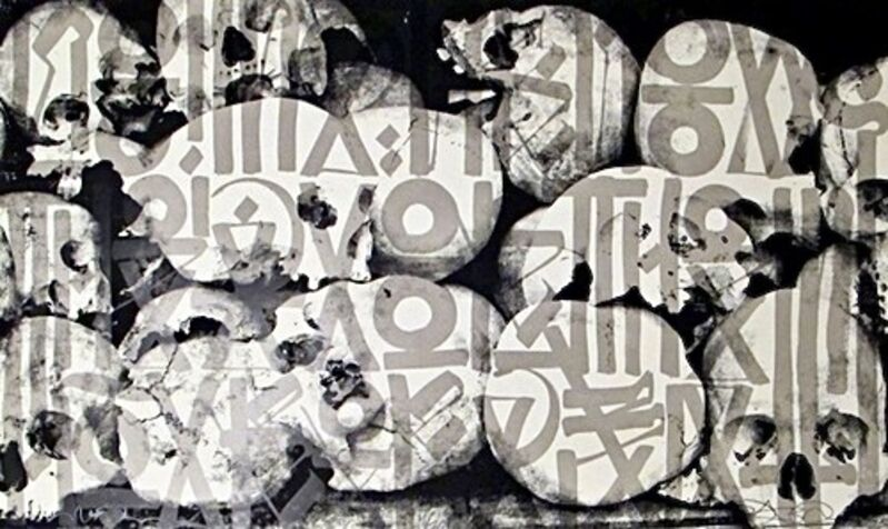 """RETNA, '""""No Man Knows The Day Nor The Hour Of Death"""" ', 2011, Print, 3 color serigraph on Stone Henge 100% archival cotton rag paper, Eastern Projects"""