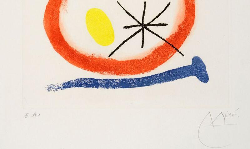 Joan Miró, 'Chemin de Ronde III', 1966, Print, Etching and aquatint incolours on Rives paper on cardboard, Invertirenarte.es