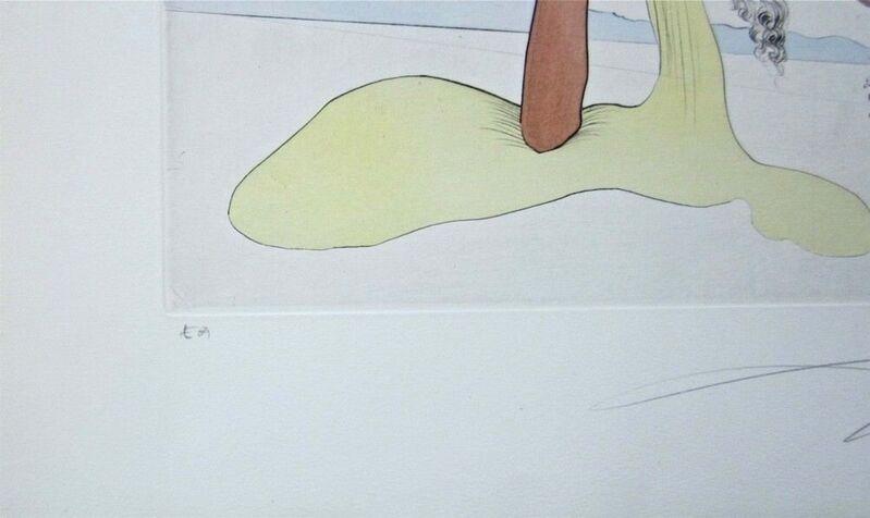 Salvador Dalí, 'Hommage à Quevedo', 1975, Print, Engraving with pochoir on Japon paper, Art Commerce