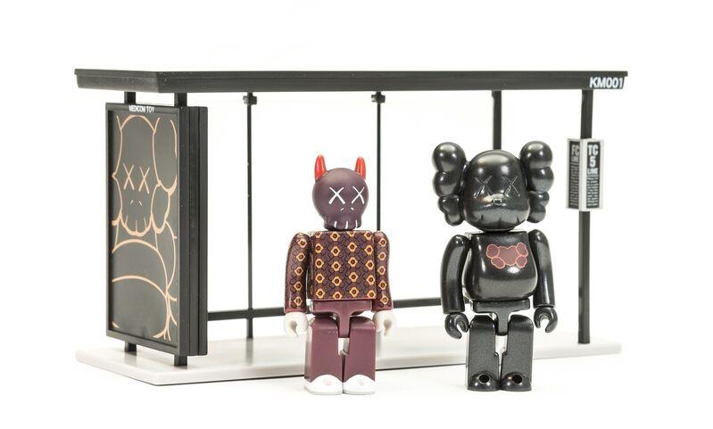 KAWS, 'Kubrick Bus Stop volumes 1 & 2', 2002, Sculpture, Two sets of painted vinyl multiples, Forum Auctions