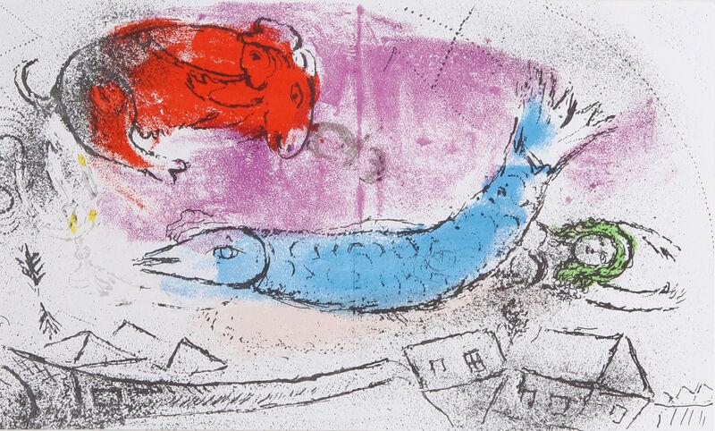 Marc Chagall, 'Le Poisson Bleu', 1957, Print, Lithograph, RoGallery