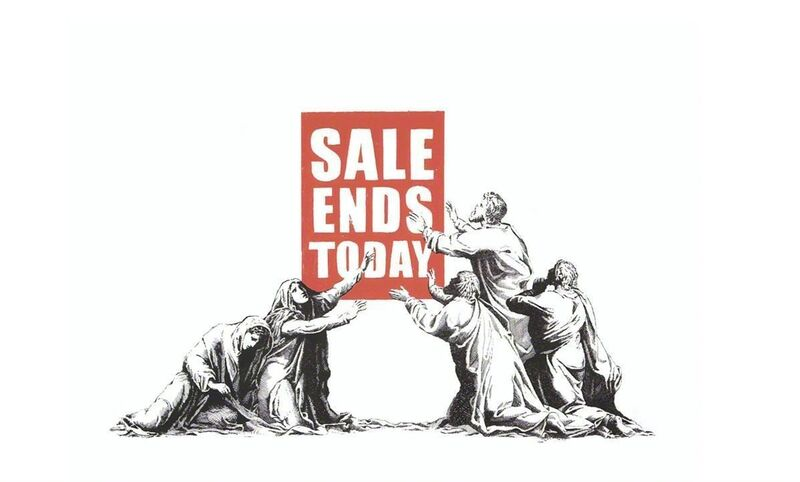 Banksy, 'Sale Ends - Signed', 2017, Print, Screen print on paper, Hang-Up Gallery