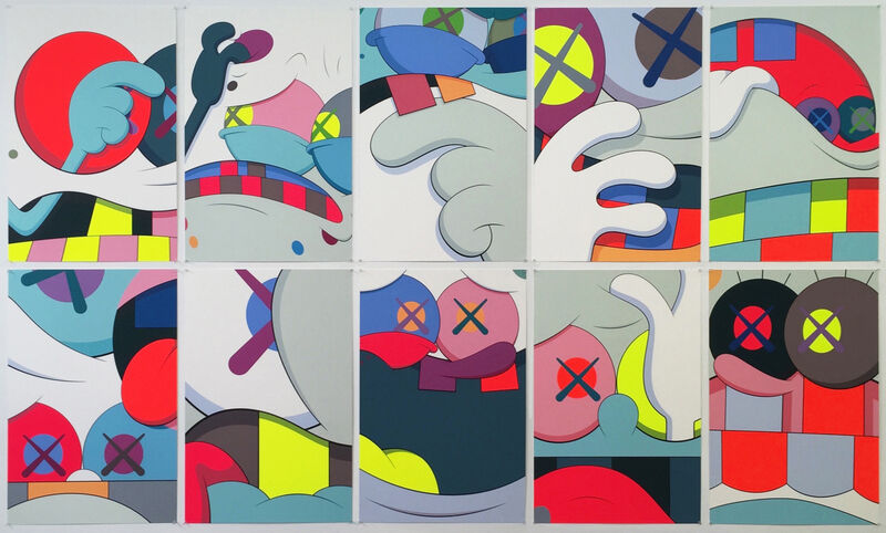 KAWS, 'Blame Game', 2014, Print, Screen print on Saunders Waterford 410gm High White paper, Zemack Contemporary Art