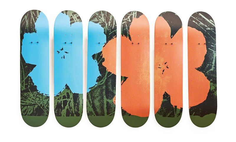 Andy Warhol, 'Flowers', 2016 (1965), Mixed Media, Six skateboards 7-ply maple wood from sustainable Canadian forests, with mounting system, Fondation Beyeler