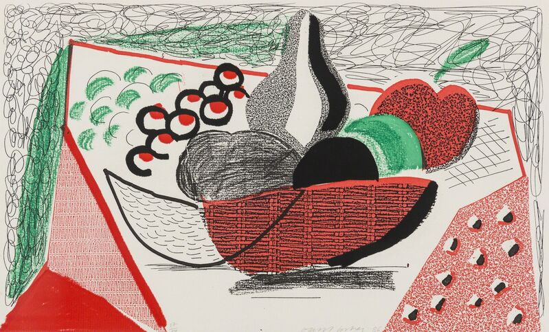 David Hockney, 'Apples, Pears & Grapes, May 1986', 1986, Print, Homemade print in colours executed on an office colour copy machine, on Arches rag paper, RAW Editions