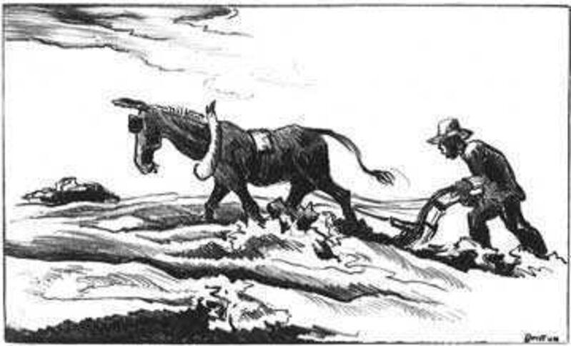 Thomas Hart Benton, 'Plowing it Under', 1934, Print, Lithograph, Kiechel Fine Art