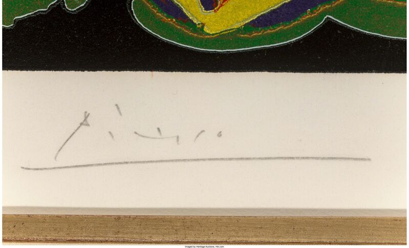 Pablo Picasso, 'Déjeuner sur l'herbe', 1962, Print, Linocut in colors on Arches paper, Heritage Auctions
