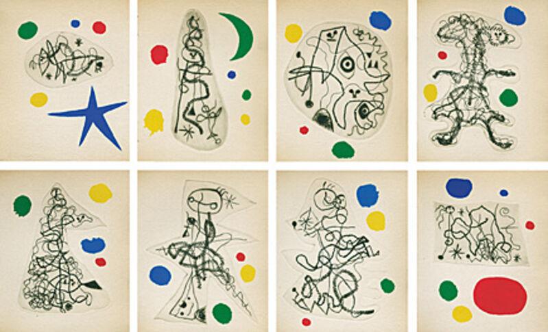Joan Miró, 'L'Antitête (Tristan Tzara)', 1949, Books and Portfolios, Publication including etchings, Galerie Boisseree