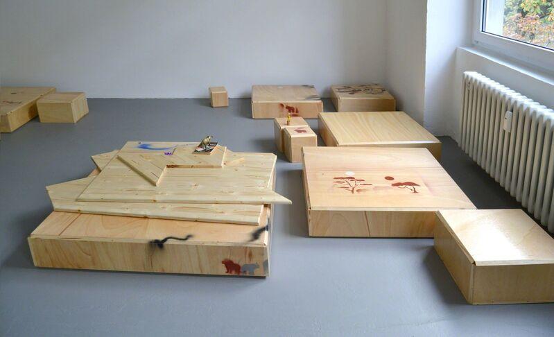 Manfred Pernice, 'Progress Ⅲ', 2012, Sculpture, Wood, laquer, dimensions variable, Gyeonggi Museum of Modern Art