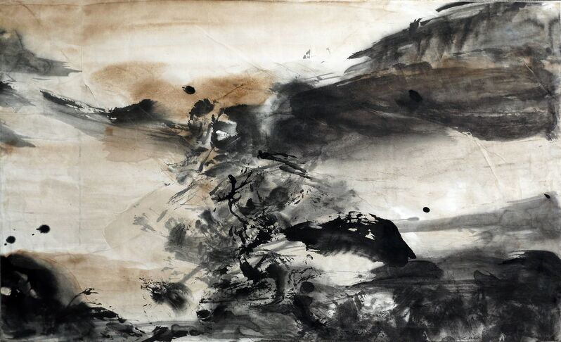 Zao Wou-Ki 趙無極, 'Composition abstraite', 1975, Drawing, Collage or other Work on Paper, Mixed media on China paper, Applicat-Prazan