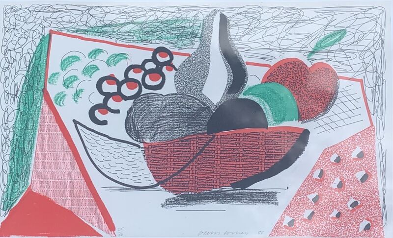 David Hockney, 'Apples, Pears & Grapes', 1986, Print, Hand-made print in colours executed on an office copier, on Arches text paper, Artsy x Capsule Auctions