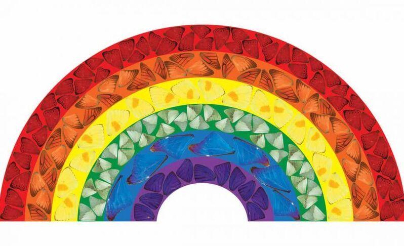 Damien Hirst, 'Butterfly Rainbow [H7-2]', 2020, Print, Laminated Giclée print on aluminium composite panel, Dellasposa
