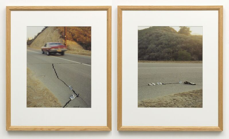 Ger van Elk, 'The Discovery of the Sardines, Placerita Canyon, Newhall, California', 1971, Photography, Diptych; 2 colour photographs, Galerie Bob van Orsouw