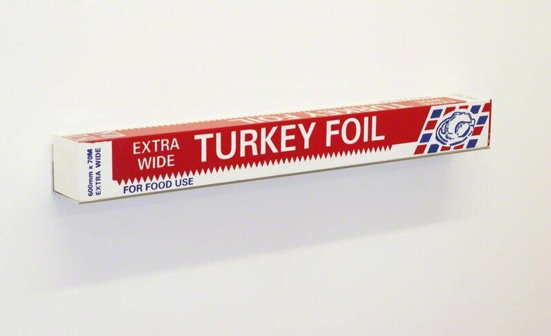 Gavin Turk, 'Turkey Foil Box', 2007, Sculpture, Silkscreen ink on plywood, David Nolan Gallery