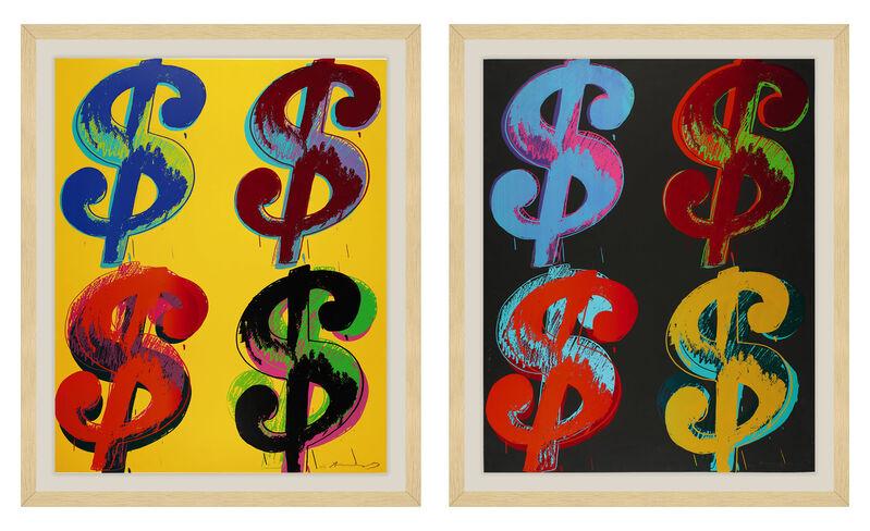 Andy Warhol, '$ (4) F&S II.281-282 (two pieces)', 1982, Print, Unique Screenprint on Lenox Museum Board, Fine Art Mia