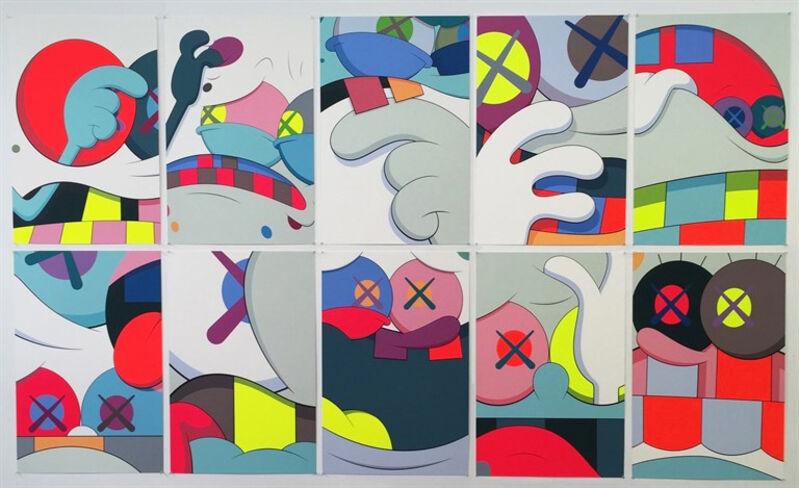 KAWS, 'Blame Game (Complete Portfolio of 10 Prints)', 2014, Print, Silkscreen on paper, Carmichael Gallery