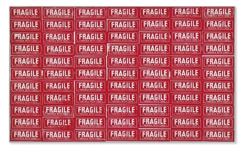 Andy Warhol, 'Fragile–Handle With Care', Silkscreen ink and graphite on canvas, Christie's
