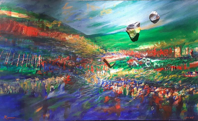 Yoram Raanan, 'Crossing the Red Sea', 1980-1989, Painting, Oil on Canvas, Kings Gallery