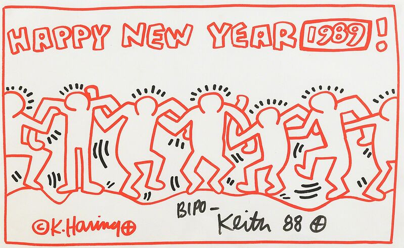 Keith Haring, 'Untitled (Happy New Year 1989)', 1988, Print, Lithograph in colors, Rago/Wright