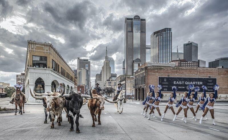 David Yarrow, 'The Dallas Cowboys (Color)', 2020, Photography, Digital Pigment Print on Archival 315gsm Hahnemuhle Photo Rag Baryta Paper, Samuel Owen Gallery