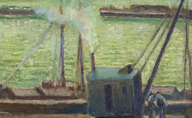 Georges Manzana Pissarro, 'La Grue St Cloud', 1902, Painting, Oil on canvas, Stern Pissarro Gallery