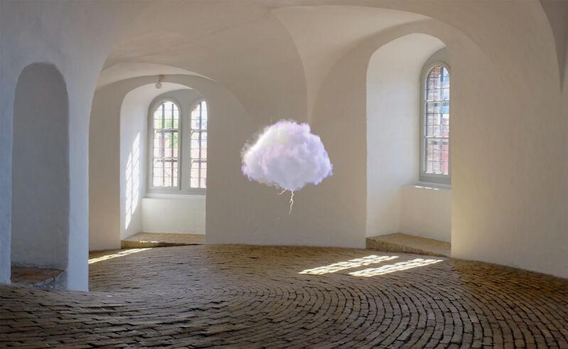 Michelangelo Bastiani, 'Una Nuvola - Fan', 2019-2020, Installation, Hologram Video 7 min, hologram fan projector, Mark Hachem Gallery