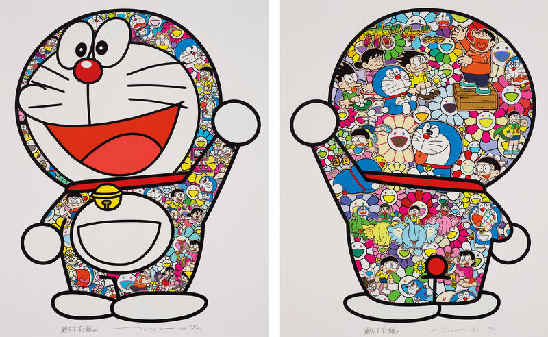 Takashi Murakami, 'Doraemon: Hip Hip Hurrah!; and Doraemon's Daily Life', Print, Two screenprints in colours, on smooth wove paper, with full margins., Phillips