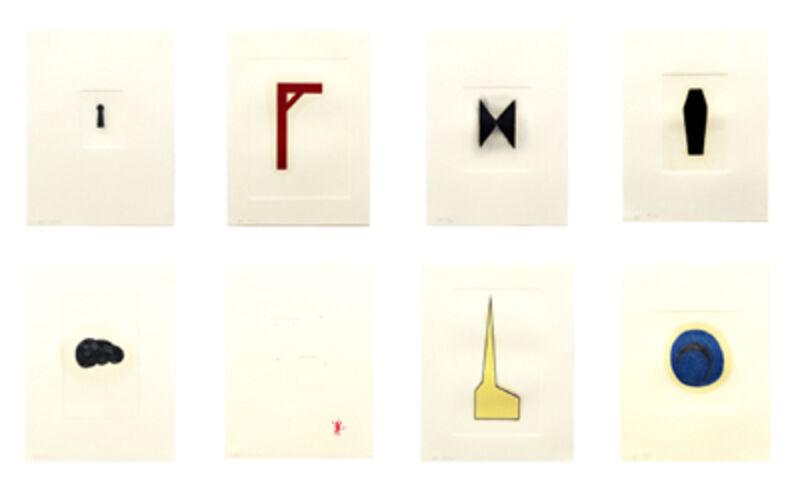 Robert Therrien, 'Hand Colored Prints [Set of Eight Prints]', 1988-1995, Print, Color screenprint, Hirschl & Adler