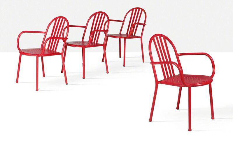 Robert Mallet-Stevens, 'Set of 4 armchairs', circa 1950, Design/Decorative Art, Painted steel, Aguttes