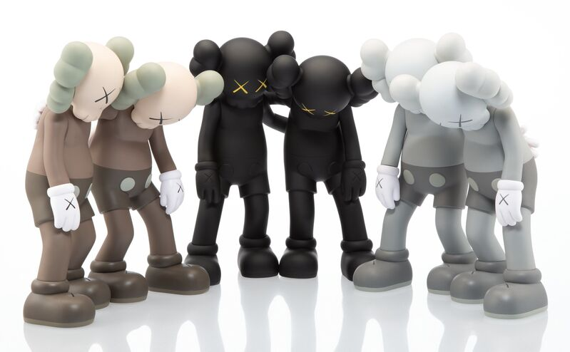KAWS, 'Along the Way, set of three', 2019, Sculpture, Painted cast vinyl, Heritage Auctions