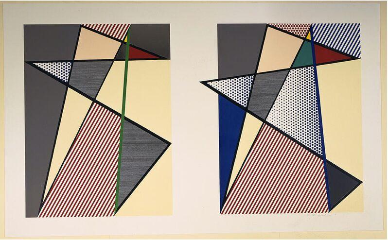 Roy Lichtenstein, 'Imperfect Diptych', 1988, Print, Woodcut, screenprint and collage, Zane Bennett Contemporary Art