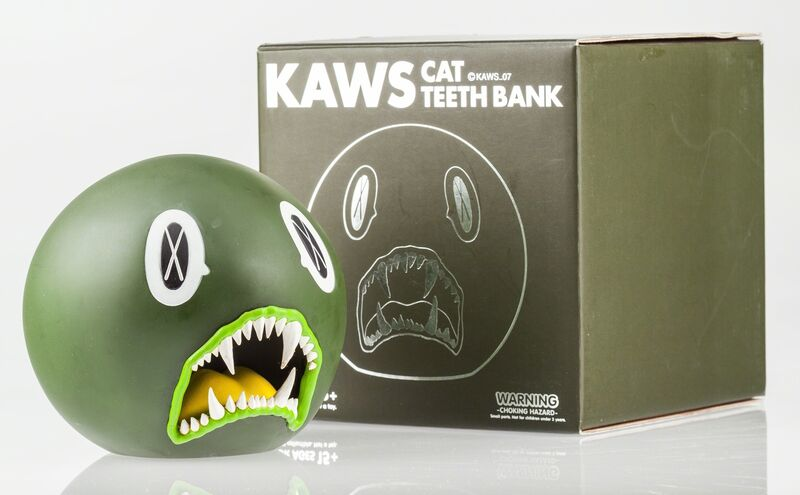 KAWS, 'Cat Teeth Bank (Green)', 2007, Other, Painted cast vinyl, Heritage Auctions