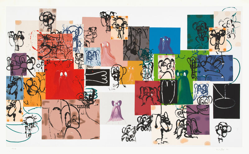 George Condo, 'Paper Faces (R. p. 189)', 2000, Print, Screenprint in colors, on wove paper, with full margins., Phillips