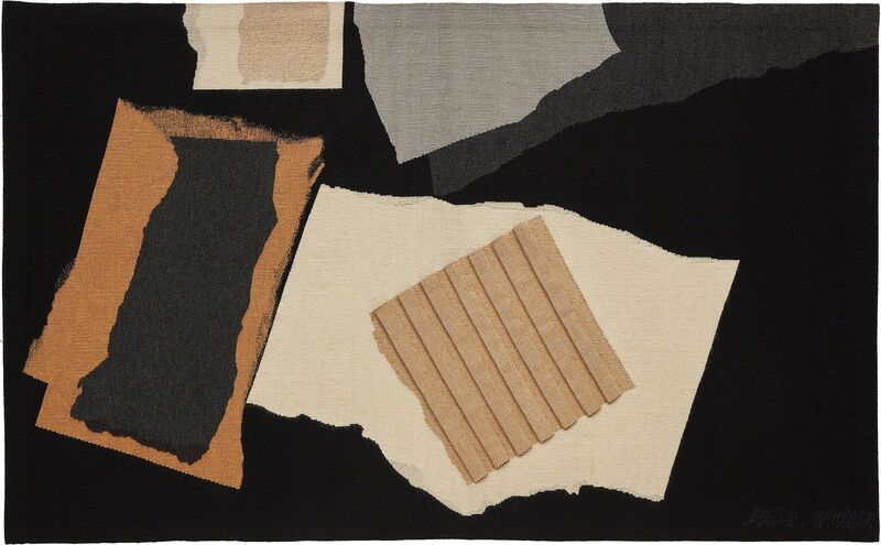 """Louise Nevelson, 'Unique """"Night Mountain"""" tapestry', 1977, Textile Arts, Wool, metallic thread., Phillips"""