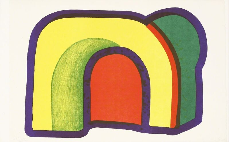 Howard Hodgkin, 'Arch (Composition With Red)', 1971, Print, Lithograph printed in colours, Sworders