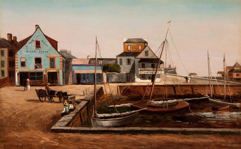 Frank Henry Shapleigh, 'The Plaza Basin, St. Augustine Florida', 1889, Painting, Oil on canvas, Caldwell Gallery Hudson