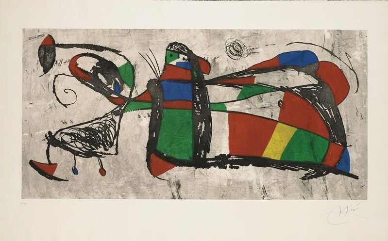 Joan Miró, 'Tres Joan (D.1034)', 1978, Print, Hand-signed aquatint and etching, Martin Lawrence Galleries