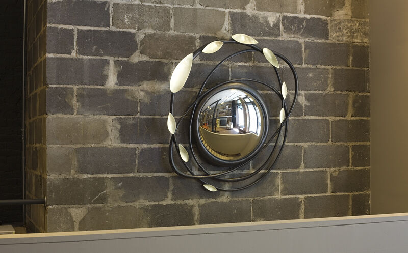 Hervé van der Straeten, 'Miroir Voltige', 2011, Design/Decorative Art, Polished and black patinated bronze, bull's eye mirror, Maison Gerard