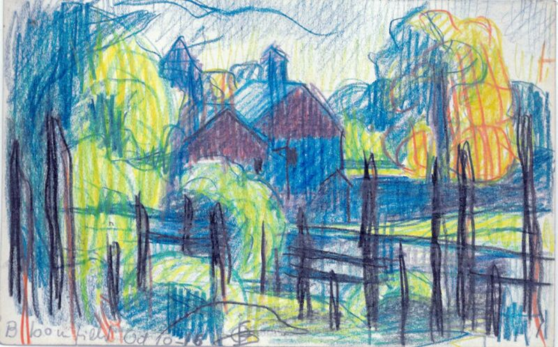 Oscar Bluemner, 'Hill at Oaks Pond', 1918, Drawing, Collage or other Work on Paper, Colored Pencil, ACA Galleries